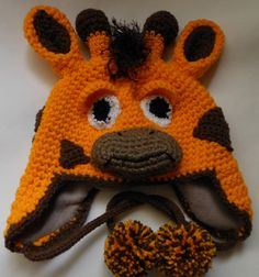 Crochet hat pattern crochet giraffe hat pattern by WistfullyWoolen, £2.89