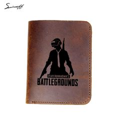 f1d612248 PUBG Genuine Leather Wallet Men Laser Engraved Cool PLAYERUNKNOWN S  Battlegrounds   Price   20.36  amp