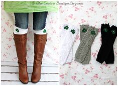 St Patrick's Day Ruffle Boot Cuff Leg by ChicCoutureBoutique, $13.50