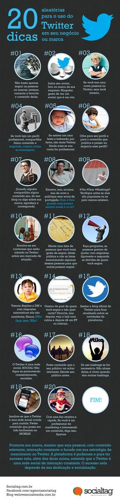 20 dicas para aplicar no Twitter da sua empresa. #digital #socialmedia