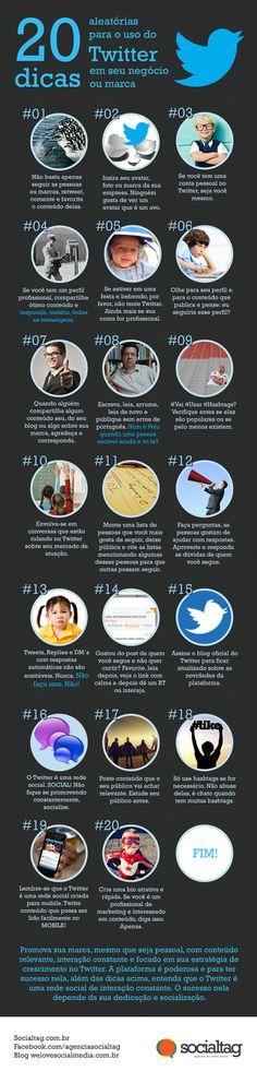 Infográfico traz 20 dicas para sua empresa usar o Twitter de forma eficiente