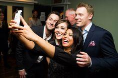 The Blacklist cast selfie-Ryan Eggold, Megan Boone, Parminder Nagra, Diego Klattenhoff