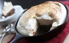 mores pie w/ graham cracker crumbs (raisins, almond flour, cinnamon ...