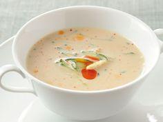 帆立てと豆乳の 冷製スープ レシピ 高城 順子さん|【火を使わない!夏のエコレシピ】帆立てのうまみと豆乳が、互いのくせを抑えて食べやすくやさしい味わいに。