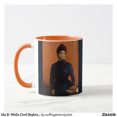 Shop Ida B. Wells Civil Rights Suffrage NAACP Mug created by Personalize it with photos & text or purchase as is! African American Women, American History, Ida B Wells, Most Famous Quotes, Suffragette, Black History Month, Civil Rights, Civilization, Girl Power