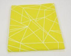 Stil in Nürnberg | Identity Styling | Dresówka pętelka Białe Linie Geometryczne : Limonka Fluo Premium 270g/m2