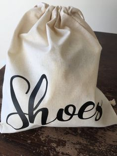 Reusable Cotton Canvas Draw String Bag -Shoe Bag