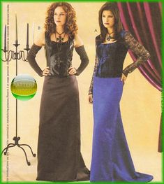 McCalls 3380 Sexy Gothic Vampire Bodice & Skirt Patterns