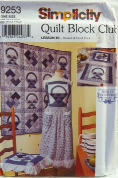 Simplicity Sewing Pattern 9253 Quilt Block Club