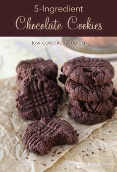 5-Ingredient Keto Chocolate Cookies (low-carb, keto, paleo)