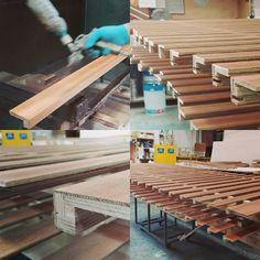 WEBSTA @ tavar_parquet - Produzione tori in rovere europeo#toruses #tori #production #parquet #oak #woodfloors #woodfinishing #manualfactory #manatwork #madeinitaly #interiordesign
