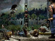 """""""Beavers and Woo at Tanoo"""" by Diana Thorneycroft (from her series: Group of Seven Awkward Moments)"""