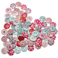50x Christmas Bell Wooden Buttons Scrapbooking Embellishment for Craft 25mm