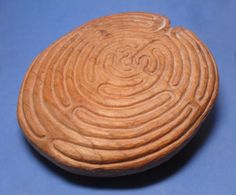 Unusual Large Hand Carved Wooden Maze Labyrinth Sculpture Form Mandala | eBay