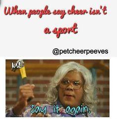 Truth. #cheer #cheerleader #thingsweloveatspiritaccessories All Star Cheer, Cheer Mom, Cheerleading Stunts, Cheer Qoutes, Cheer Funny, Cheer Extreme, Cheer Workouts, Cheer Coaches, Cheer Dance