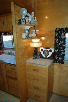 1950 Vagabond Trailer  @Barbara Anderson  check out all the doodads!!!