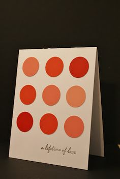 Card using paint chips and a circle punch.