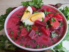 Botwinka - Obżarciuch Polish Recipes, Polish Food, Soups And Stews, Soup Recipes, Watermelon, Salsa, Food And Drink, Mexican, Fruit