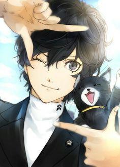Persona 5 - Akira and Morgana Gato Anime, Manga Anime, Anime Art, Persona 5 Joker, Persona 4, Persona 5 Anime, Loli Kawaii, Anime Kawaii, Digimon