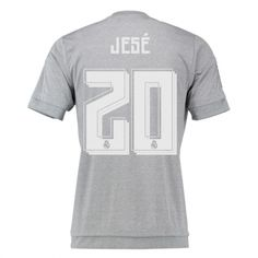 b16ef9413bab Real Madrid Jersey 2015 16 Away Grey Soccer Shirt  20 Jese Soccer Shirts