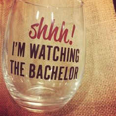 Shop this wine glass on Etsy! I love Bachelor Mondays and wine in this glass. Customize the colors, too! Bachelor Night, The Bachelor Tv Show, Bachelorette Finale, Bachelorette Party Themes, Custom Wine Glasses, Bff Gifts, Craft Business, Bachelor Bracket, Little Gifts