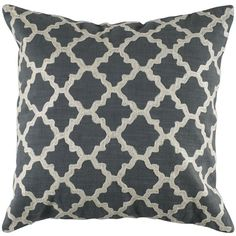 "Rizzy Home Diamond Decorative Pillow, 18 x 18"", Gray (94 CAD) ❤ liked on Polyvore featuring home, home decor, throw pillows, pillows, grey throw pillows, rizzy home, grey accent pillows, gray home decor and gray throw pillows"