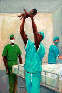 Bless this Child, was one of my paintings featured on the cover of the National Medical Association Journal  www.tellisfineart.com