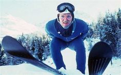 55 Eddie the Eagle Edwards skiing