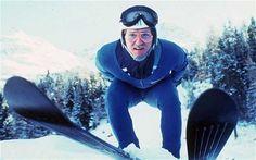 55 Eddie the Eagle Edwards skiing