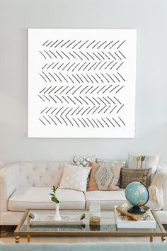Turn your living room into a serene living scape with art that feels as light as a feather. Best Interior Design, Interior Design Inspiration, Home Decor Inspiration, Interior Design Living Room, Living Room Designs, Room Of One's Own, Art Prints For Home, Home Living Room, Living Area