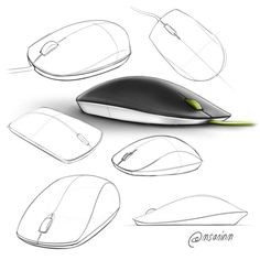 Mouse design rendering n sketching styles дизайн Sketch Design, Layout Design, Sketch Inspiration, Design Inspiration, Pista Shell Crafts, Mouse Sketch, Architecture Concept Drawings, Object Drawing, Industrial Design Sketch