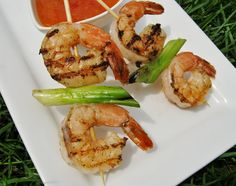 Grilled Shrimp Skewers with Thai Dipping Sauce