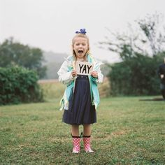 The sweetest flower girl! http://www.stylemepretty.com/tennessee-weddings/leipers-fork/2015/12/24/rustic-organic-tennessee-valley-wedding/ | Photography: Abigail Bobo - http://www.abigailbobophotography.com/