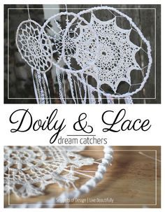 Doily and Lace Dream Catchers DIY