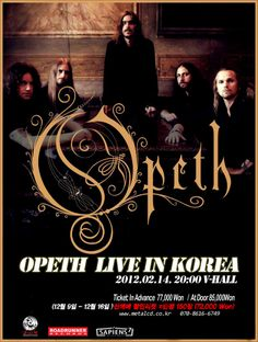 Opeth in Korea poster