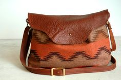 Nina bag Pendleton Wool Chenle pattern by appetite on Etsy