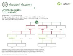 """Emerald Executive!  Average monthly earnings of a Emerald is $1121, not to bad sharing """"That Crazy Wrap Thing"""" with a few people!  If you notice it basically takes 2 Rubies and 2 other distributors working to promote to Emerald."""