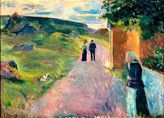 "Edvard Munch - ""Eroticism on a Summer"", 1891. Oil on canvas, 65 cm x 91 cm Munch Museet, Oslo, Norway"