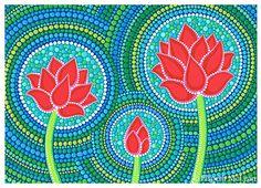 Lotus Family of Three by Elspeth McLean #lotus #yoga #meditation