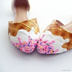 Wearable Confections From Shoe Bakery Will Give You A Sugar High! Great inspiration for some DIY sweet kicks. A little bit of puffy paint and you're off!