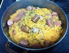 ☀ ARROZ CON SALCHICHAS DE PUERTO RICO☀...Rice with Vienna Sausages