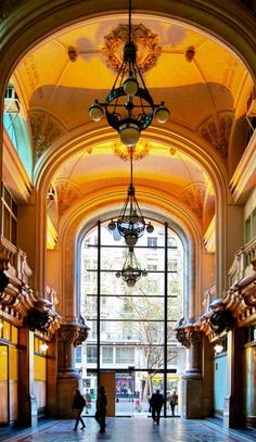 Discover Palacio Barolo in Buenos Aires, Argentina: A tower devoted to — and modeled after — the Divine Comedy. Argentine Buenos Aires, Art Nouveau Arquitectura, Argentina South America, South America Destinations, Travel Destinations, Argentina Travel, Largest Countries, Art And Architecture, Piazza Navona