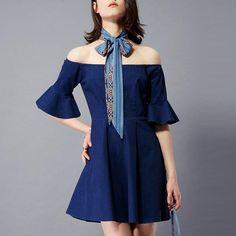 Now available!! Limited editions!!! http://designsbyzuedi.myshopify.com/products/new-sexy-women-denim-off-shoulder-mini-dress-2017-summer-elegant-ladies-short-sleeve-slash-neck-party-dresses-vestidos?utm_campaign=social_autopilot&utm_source=pin&utm_medium=pin New Sexy Women De...