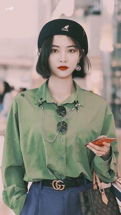 Korean Girl Fashion, Tomboy Fashion, Asian Fashion, Fashion Outfits, Looks Street Style, Street Style Summer, Kpop Outfits, Cute Outfits, Korean Beauty