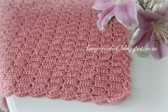 Lacy Crochet: Easy Blocks Baby Blanket, my free pattern