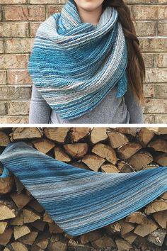 Winter Solace shawl knitting pattern from Woolenberry