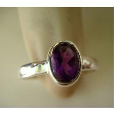 pretty purple <3 925 Reines Sterling Silber Amethyst Stacking Ring von Silver Joolz auf DaWanda.com