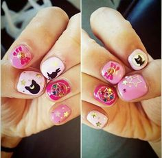 Sailor Moon Nails So Cute!! <3
