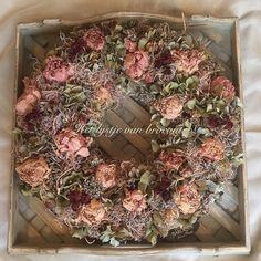 My homemade dried flower wreath...by Silvia Hokke