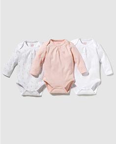 Pack bodys de bebé niña Cotton Juice surtidos
